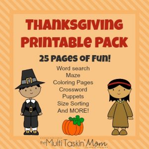 FREE 25 Page Thanksgiving Printable Pack!