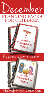 Free December Planning Pack for Children