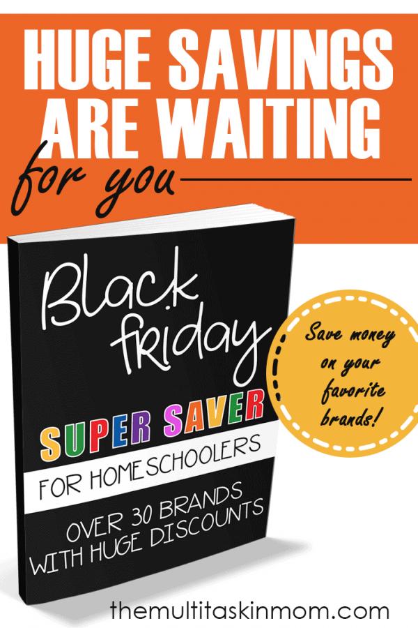 HUGE Black Friday Savings for Homeschoolers