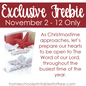 More Than Words at Christmas Time – Limited Time Freebie