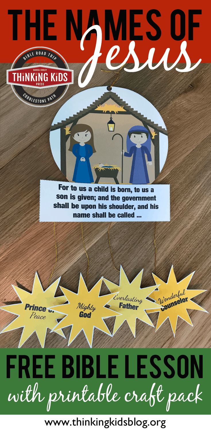 Names Of Jesus In The Bible Nativity Craft For Kids Homeschool