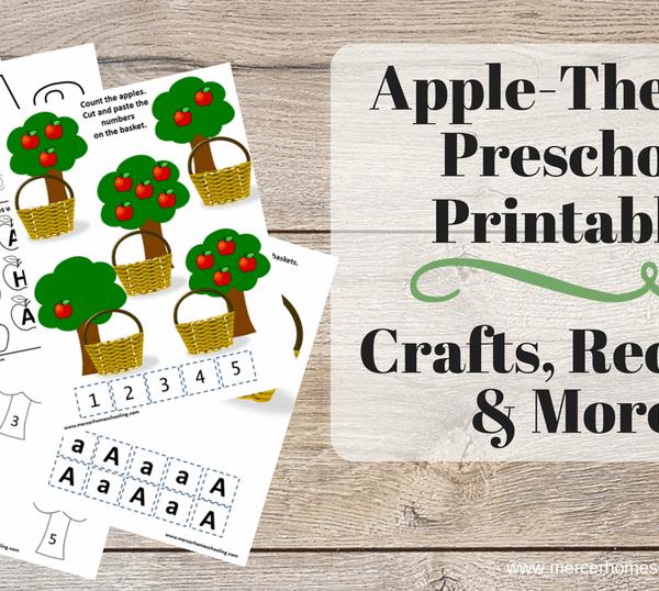 Apple Themed Preschool Printables