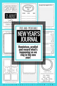 New Year's Printable Journal