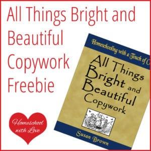 All Things Bright & Beautiful Copywork