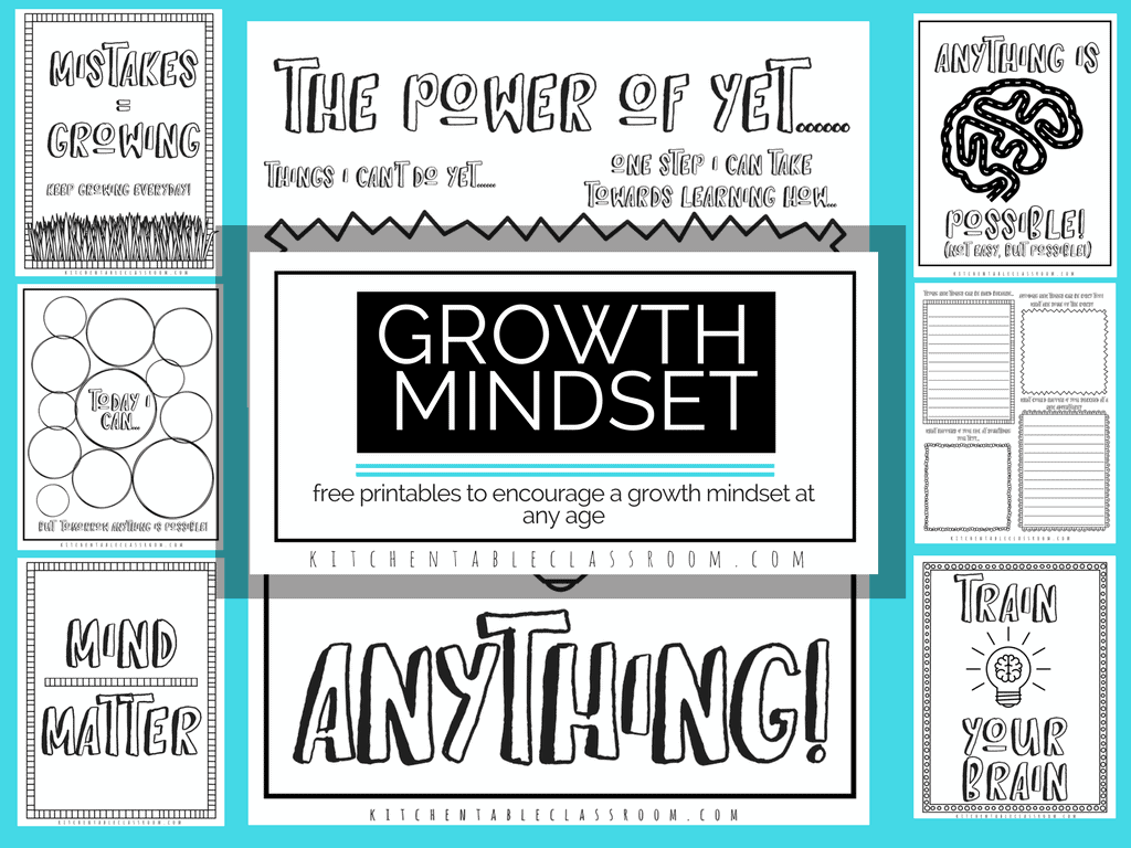 Growth Mindset Printables and Coloring