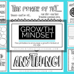 Growth Mindset Printables and Coloring Sheets for Kids