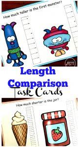 Length Comparison Task Cards