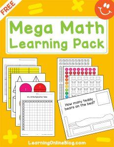 Free Mega Math Learning Pack