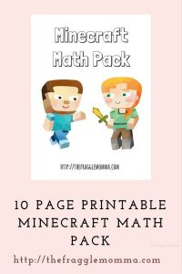 Minecraft Math Printable Set