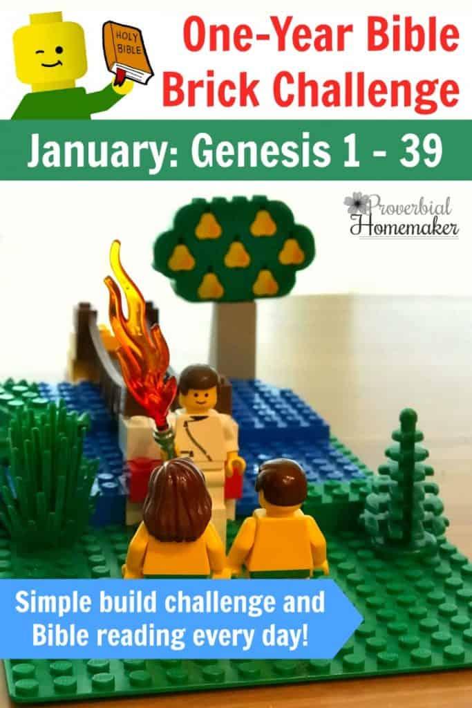 One Year Bible Brick Challenge - January