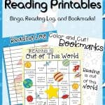 Free Reading Bingo and Bookmarks