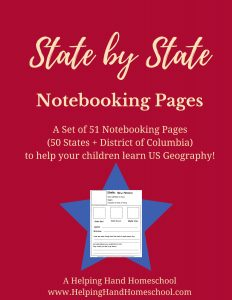 State by State Notebooking Pages