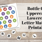 Bottle Cap Alphabet Matching