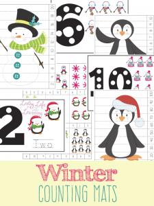Fun Winter Counting Mats!