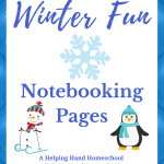 Winter Fun Notebook Pages
