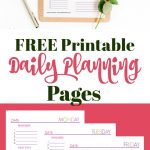 Free Daily Planning Pages!