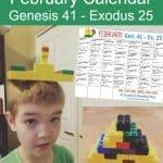 February Bible Brick Challenge Calendar