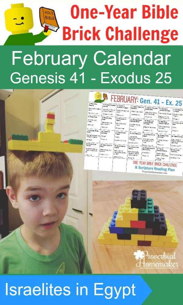 Bible Brick Challenge February Calendar