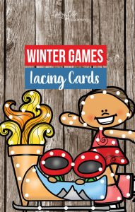 Winter Games Lacing Cards