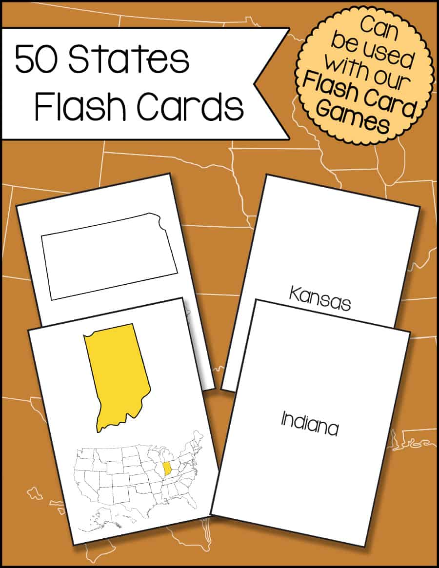 graphic about 50 States Flash Cards Printable titled 50 Says Flash Playing cards 900w - Homeschool Printables for Free of charge