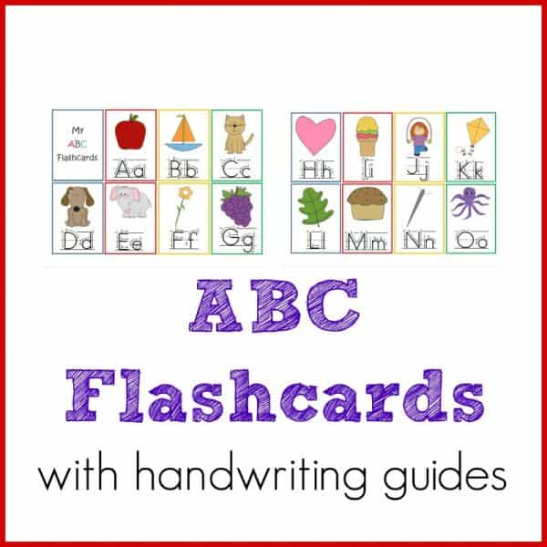 ABC Flashcards with Handwriting Helps