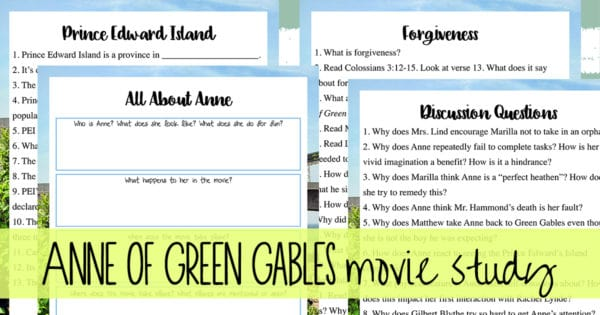 Anne of Green Gables Movie Unit