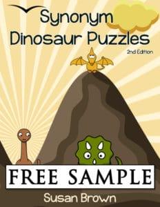 Dinosaur Synonym Puzzles