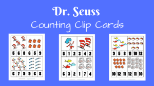 Dr. Seuss Counting Clip Cards and Lorax Activities