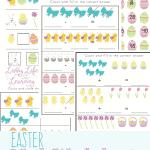 Easter Kindergarten Math Printables