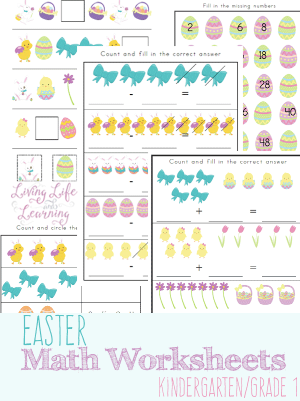 Easter Kindergarten Math Printables Homeschool Printables For Free