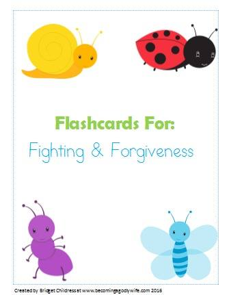 Fighting and Forgiveness Flashcards