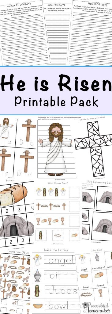 He Is Risen Easter Printable Pack