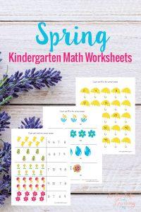 Kindergarten Math Worksheets for Spring!