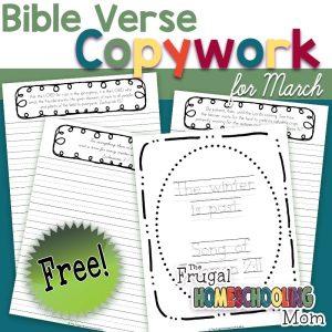 March Bible Verse Copywork