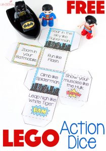 Super Hero Action Dice Game