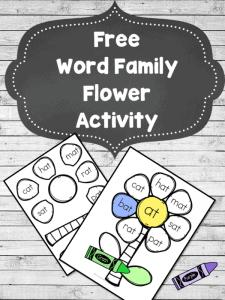 Word Family Flower