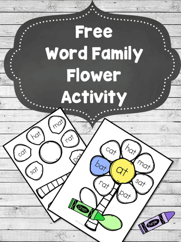 Word Family Flower