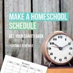 Editable Homeschool Schedule