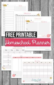 Homeschool Planning Printables