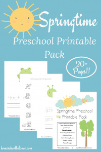 Preschool Printables for Spring!