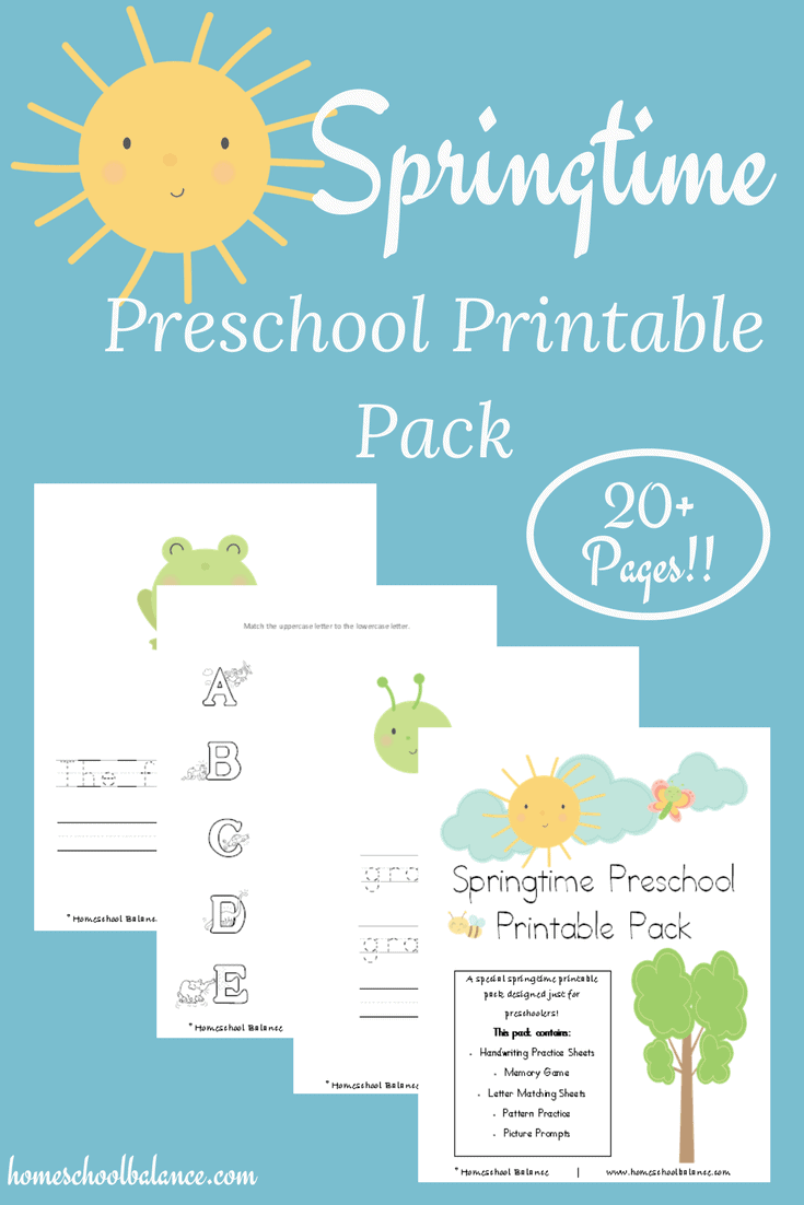 Preschool Printables for Spring! - Homeschool Printables for Free