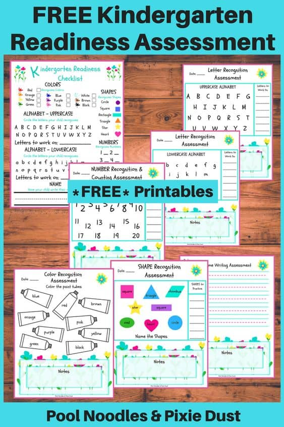 Kindergarten Readiness Assessment Homeschool Printables
