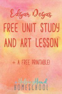 Edgar Degas Artist Study