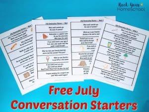 July Conversation Starters