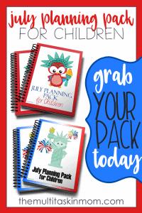 July Planning Packs for Children