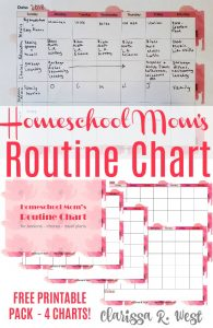 Routine Chart for Moms