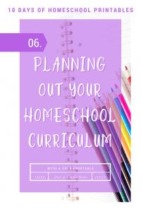 Homeschool Planning Printable