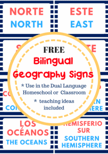 Bilingual Geography Cards