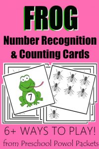 Frog Lunch Number Recognition & Counting Activities