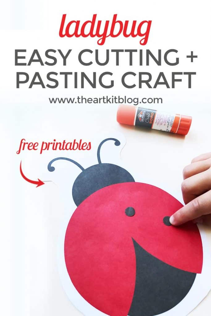 Ladybug Cutting And Pasting Activity For Kids
